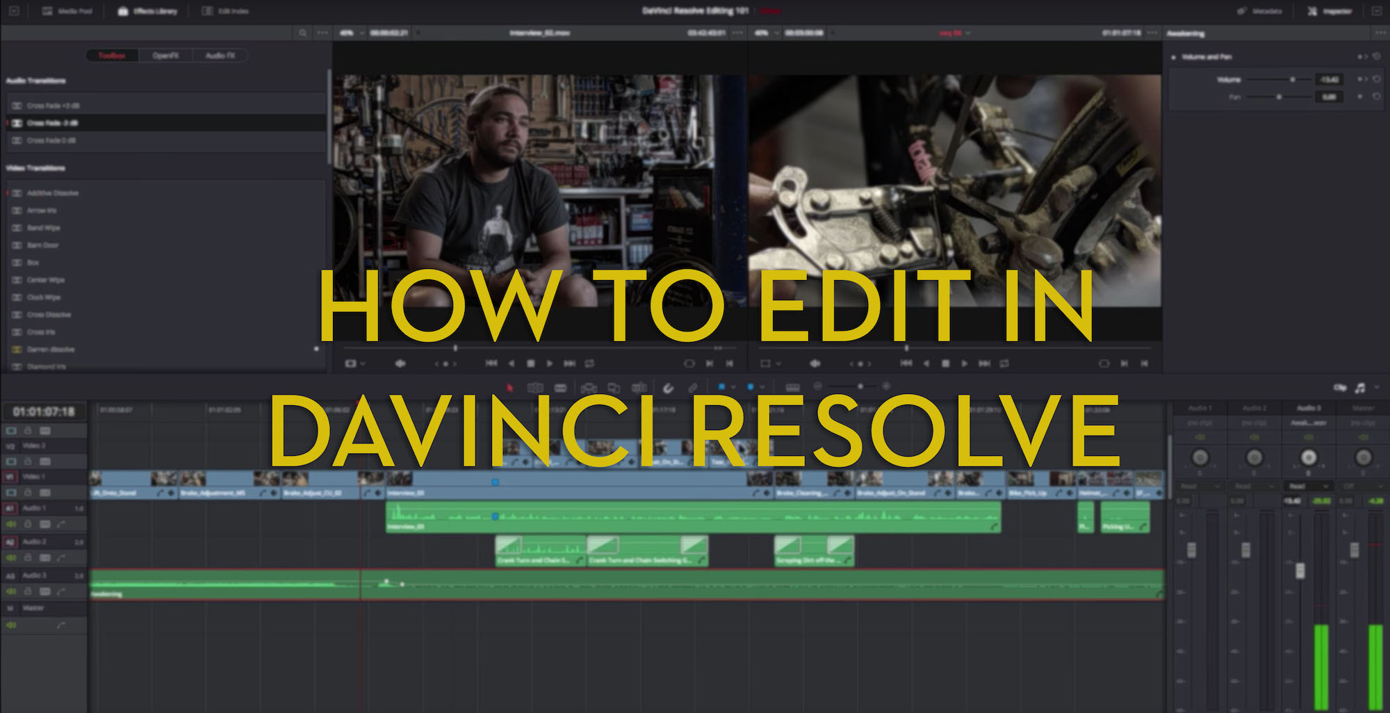learn to edit with DaVinci Resolve for free