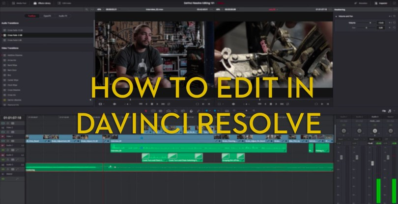 learn to edit in davinci resolve