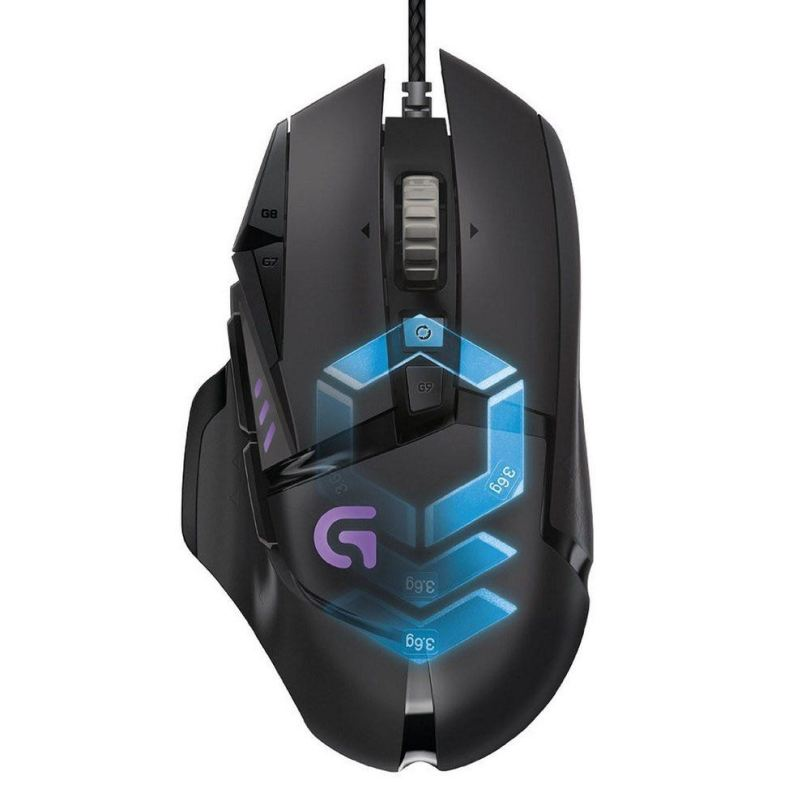Logitech G502 video editing mouse
