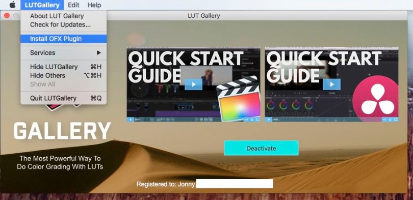 how to install LUT Gallery