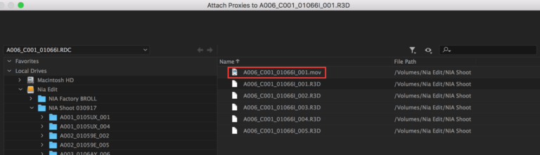 attach proxy in premiere pro