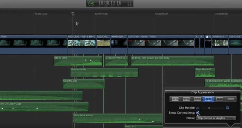 using clip connections in fcpx