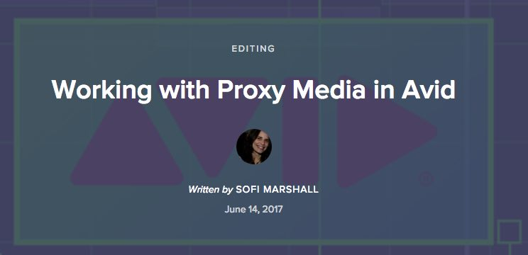 avid media composer proxy workflows