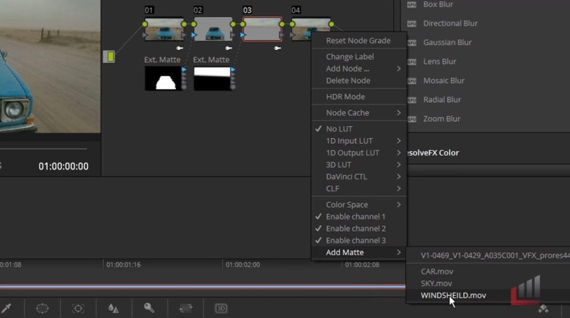 sky replacement in resolve