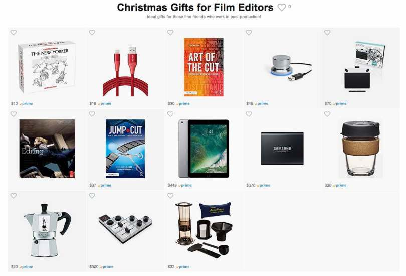 Christmas Gifts for Film Editors on amazon