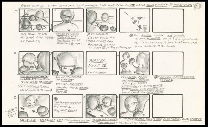 Original Storyboards from Raging Bull