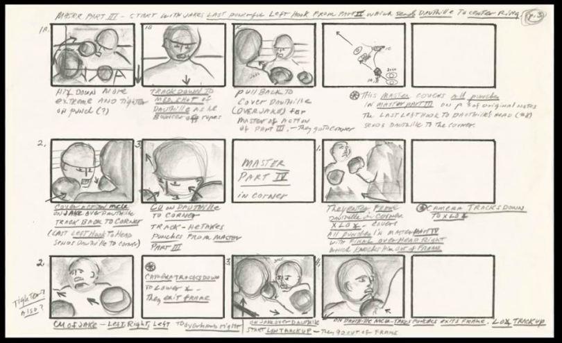 Original Storyboards from Raging Bull