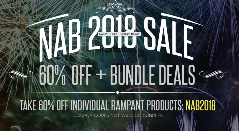 Nab 2018 discounts and promo codes jonny elwyn film editor nab post production discount codes fandeluxe Choice Image