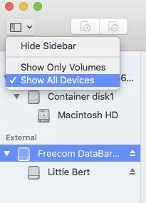 set guid partition in mac os high sierra