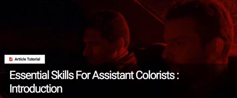 assistant film colorist skills