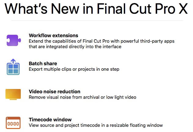 what's new in FCPX 10.4.4
