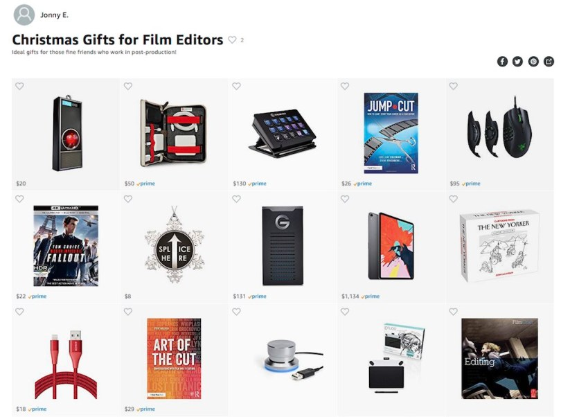 Christmas gift ideas for film editors 2018