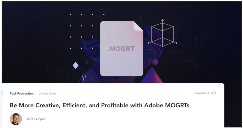 guide to making mogrts