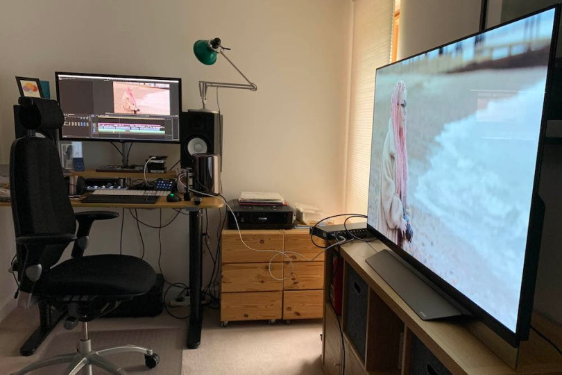 using an oled for film post production