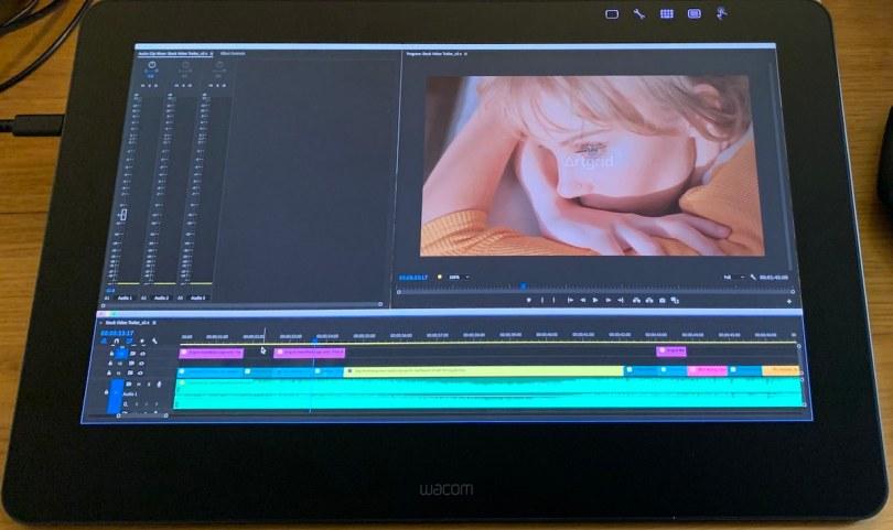 Adobe Premiere Pro on Wacom Cintiq Pro 16