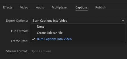 Export Captions in Premiere Pro