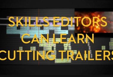 Skills editors can learn cutting trailers