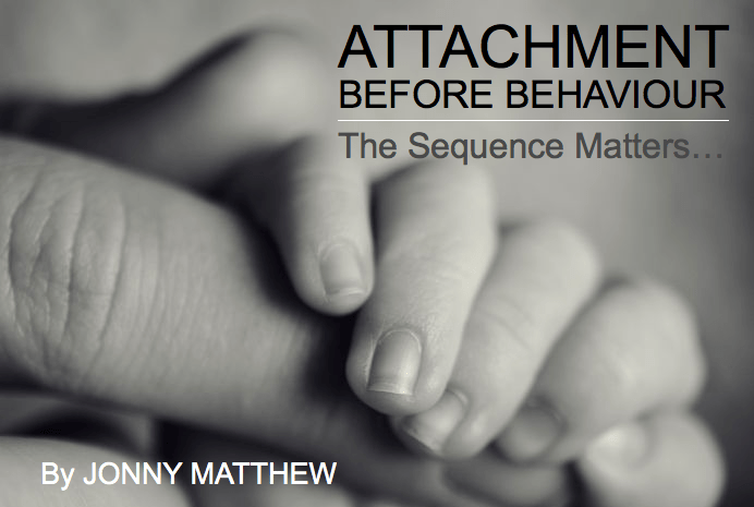 Attachment before behaviour