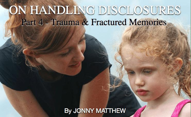 On handling disclosures – 4