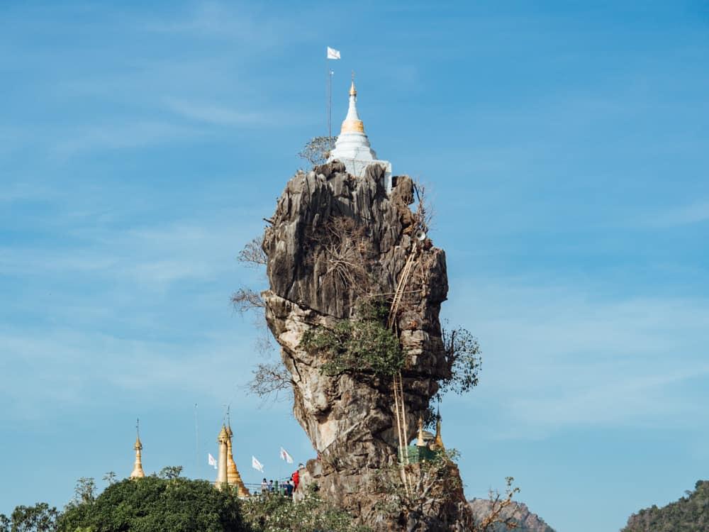 kyauk kalat, kyaut ka latt pagoda, kyaut kalatt, kyauk kalat pagoda hpa an, kyauk kalt pagoda