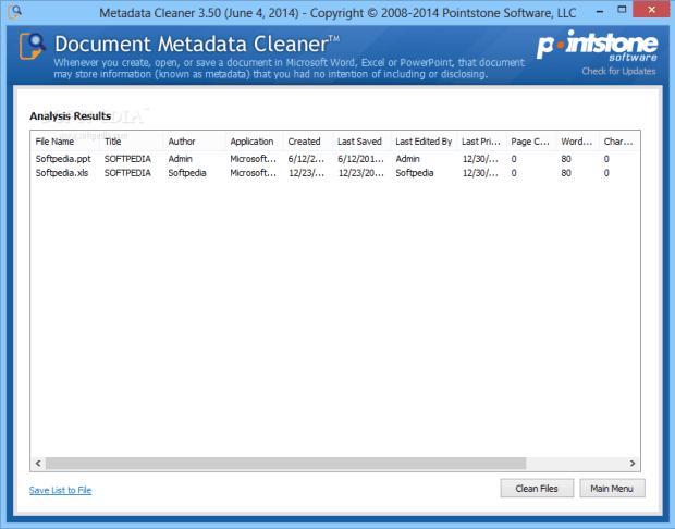 MetadataCleaner