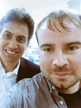 Jono with Ed Miliband