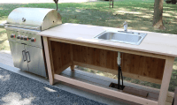 Build an Outdoor Kitchen Cabinet & Countertop with Sink