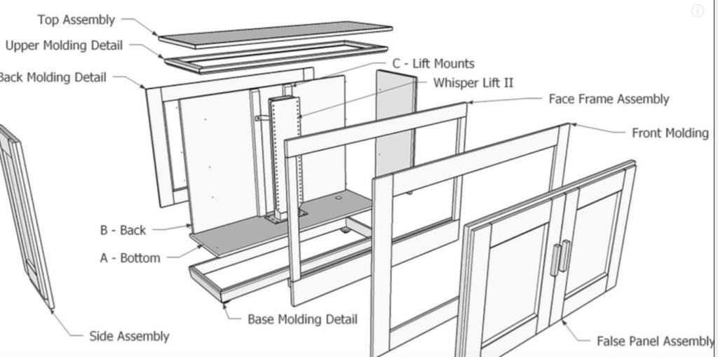 TV Lift Cabinet SHORT