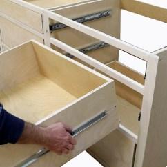 Build Kitchen Cabinets Kohler Undermount Sink Install Drawer Slides Free Design Plans