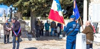 Ce lundi 19 mars 2018, Jean-Marie Fournier, maire de Jonquières-St-Vincent et l'ensemble de ses élus ont eu un moment de souvenir et de recueillement en mémoire des victimes civiles, militaires et des combats en Tunisie et au Maroc. © Sébastien Andevert