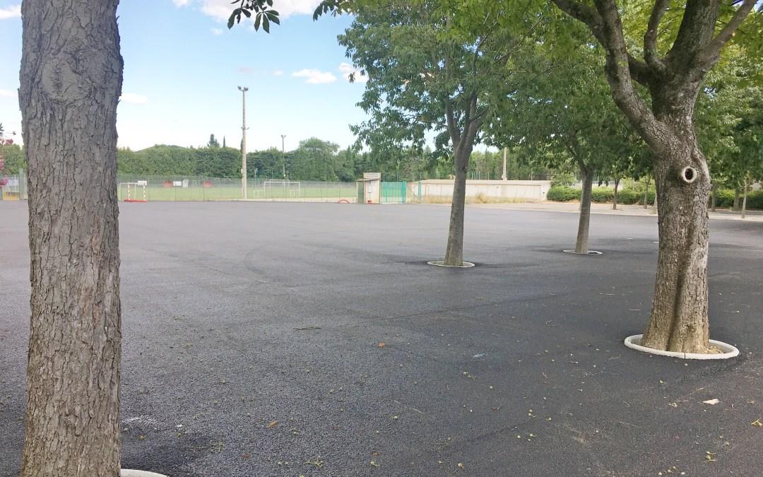Les travaux de réaménagement du parking du Centre Socioculturel sont achevés.