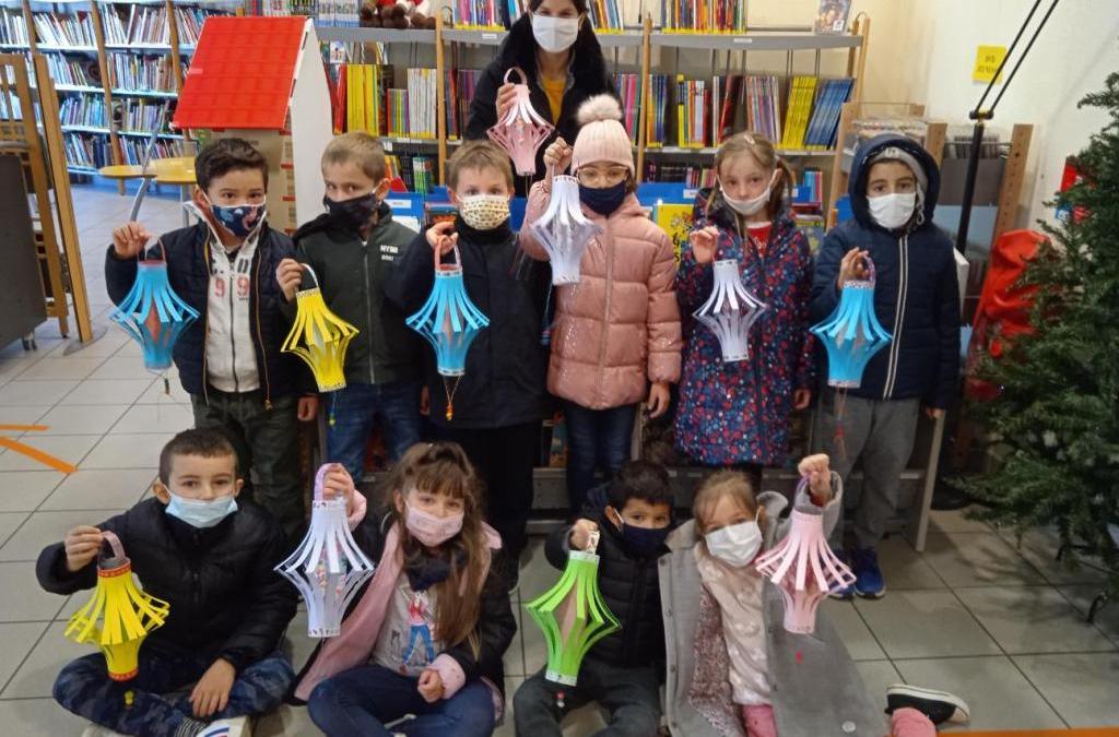 Les élèves de l'école Font Couverte  reviennent à la Médiathèque