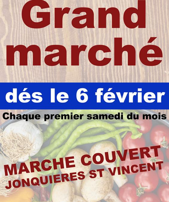 Le Marché mensuel se tiendra sous le Marché couvert ce Samedi 6 Mars