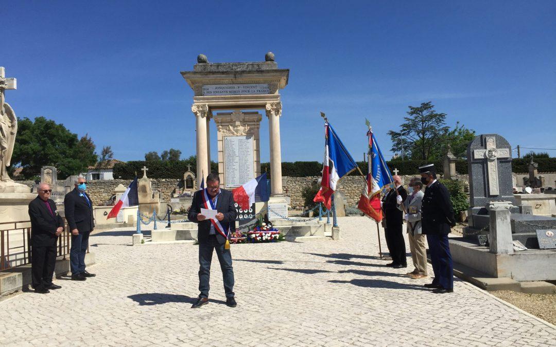 Commémoration du 8 Mai au cimetière de la commune