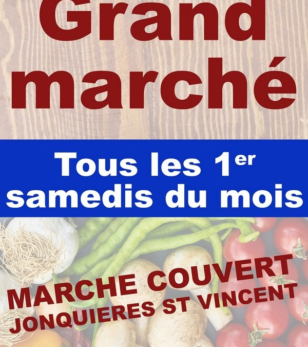 Le Marché mensuel de Jonquières c'est ce samedi !