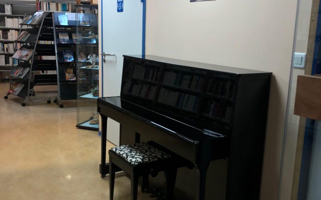 Un piano pour la Médiathèque…