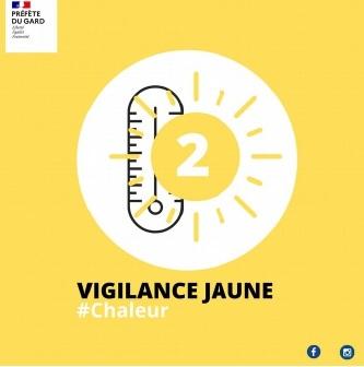 Vigilance météorologique jaune sur le Gard pour la canicule