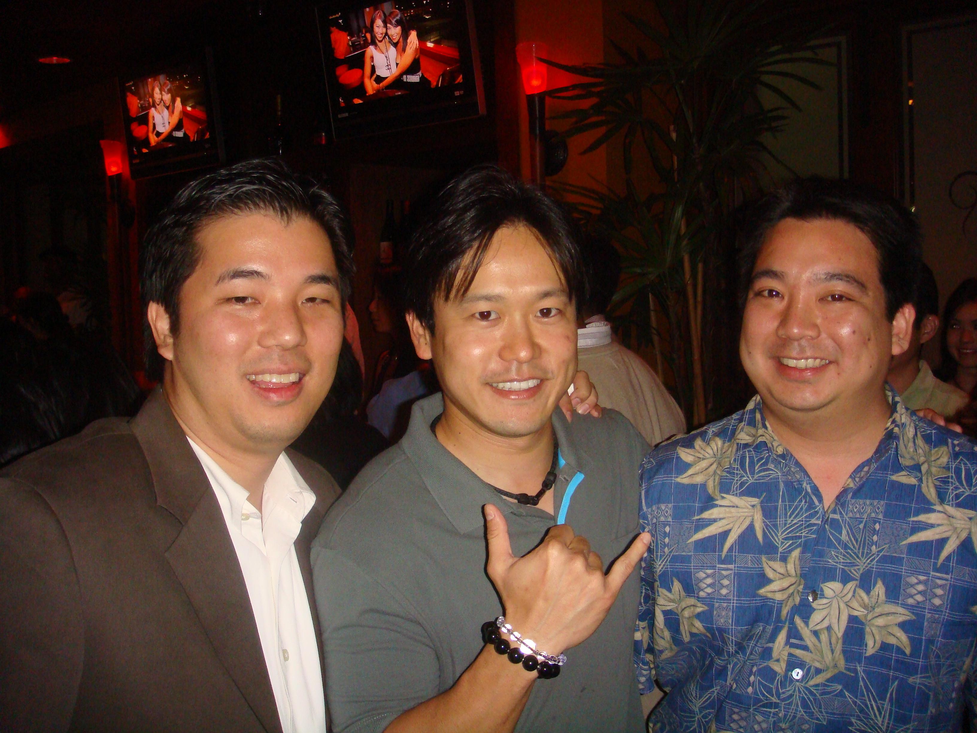 Ryan Sanada, Rep. Jon Riki Karamatsu, and Owen Iida.