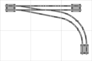Track geometries for 00-Gauge Hornby SeTrack: Jon's Model