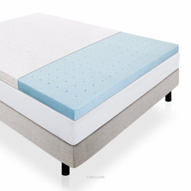 Lucid Memory Foam Mattress Topper With Gel 2 5 In