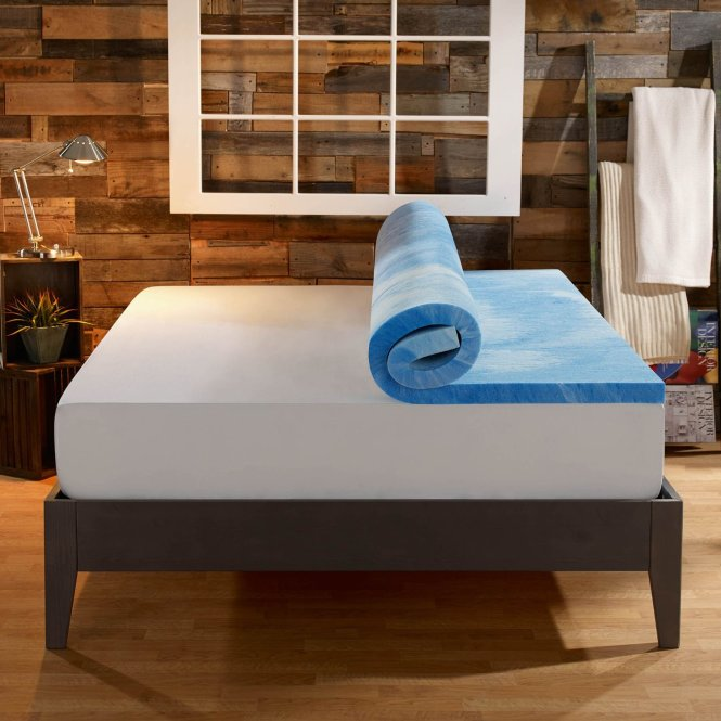 Sleep Innovations Dual Layer Mattress Topper 4 In