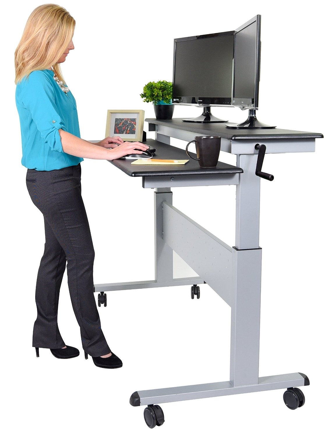 Standing Chairs 10 Best Height Adjustable Standing Desk Reviews 2019