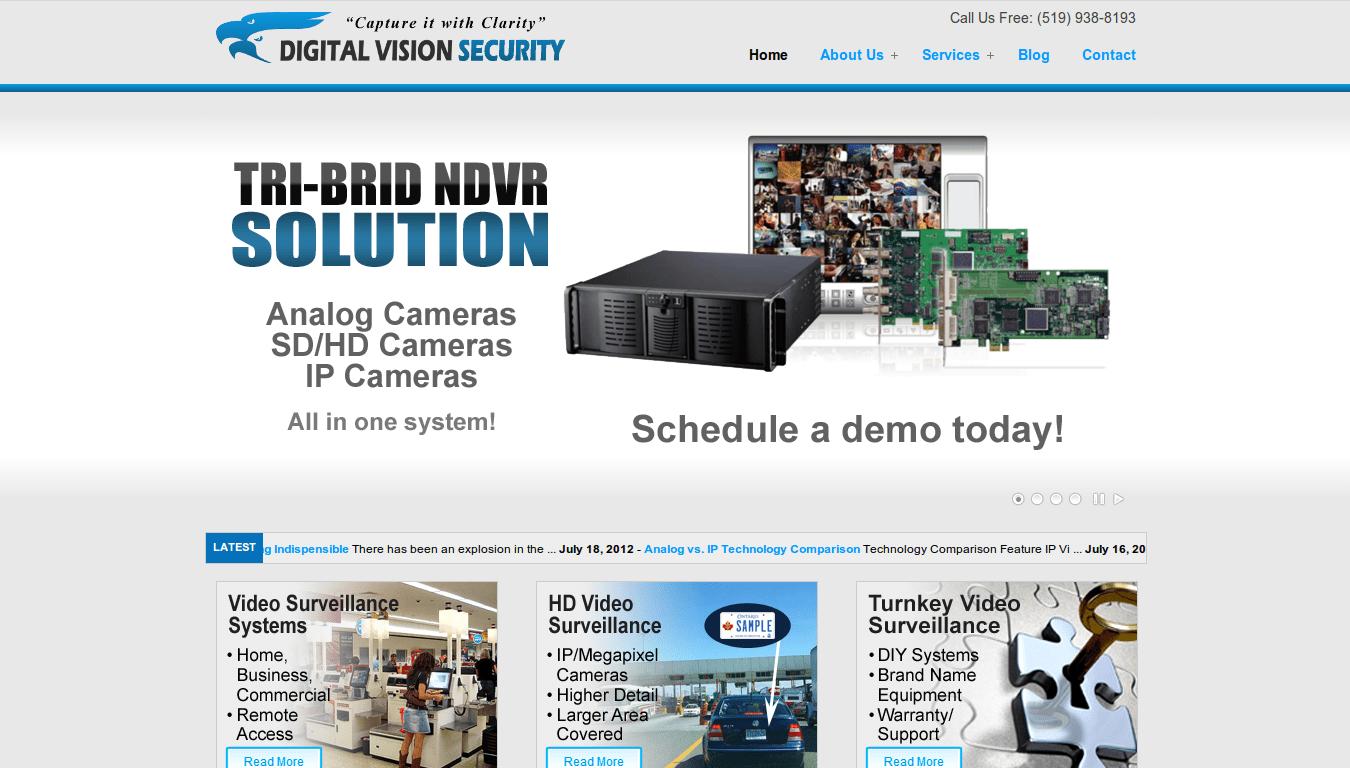 Digital Vision Security Homepage