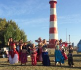 A belly dancing show by the local ladies brought loud applause from the market goers.