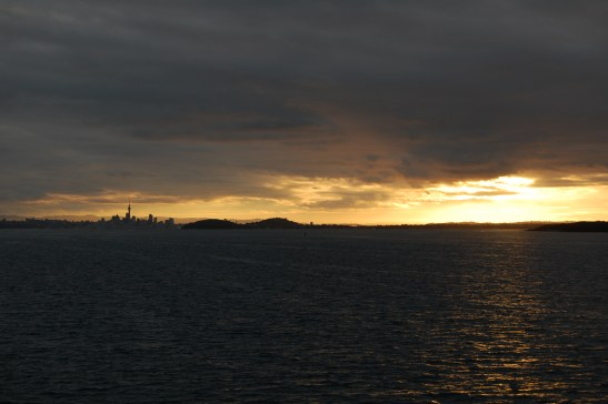 Auckland from Waiheke ferry