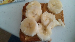 Bananas & Peanut Butter on Toasted Bread