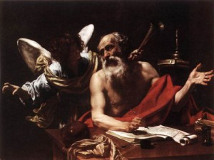 St. Jerome & The Angel by Simon Vouet