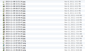 A Screenshot of my Camera Upload Directory