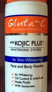 gluta c kojic plus face and body powder new