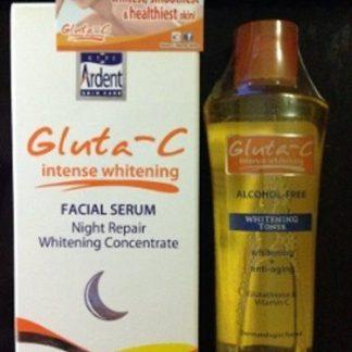 gluta c night serum and toner new
